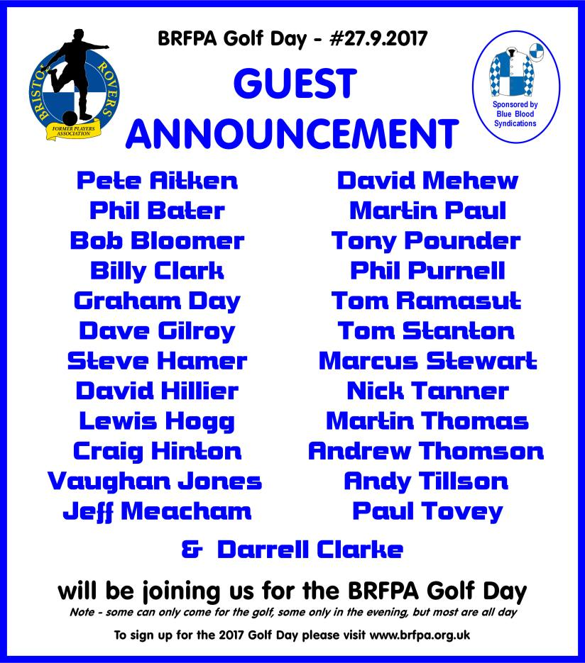 BRFPA Golf day 2017 - EVERYONE