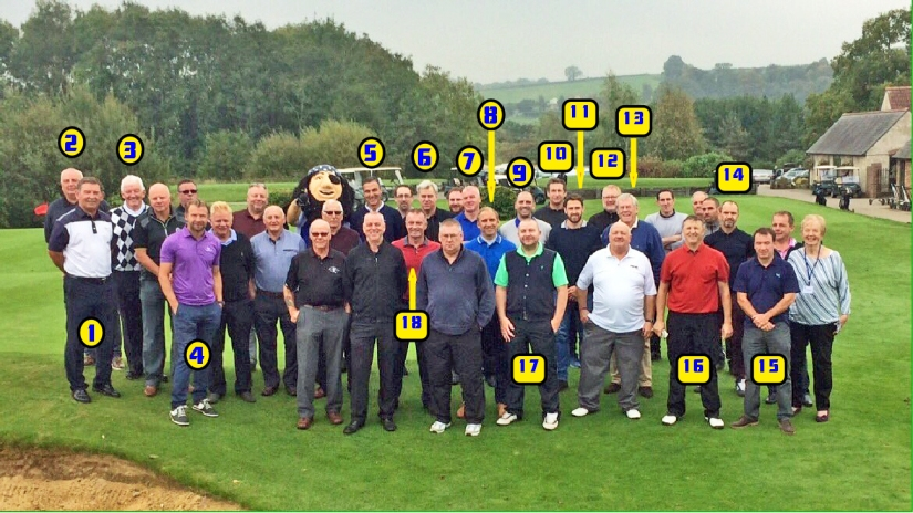 BRFPA Golf Day 2017 Line-up - with numbers