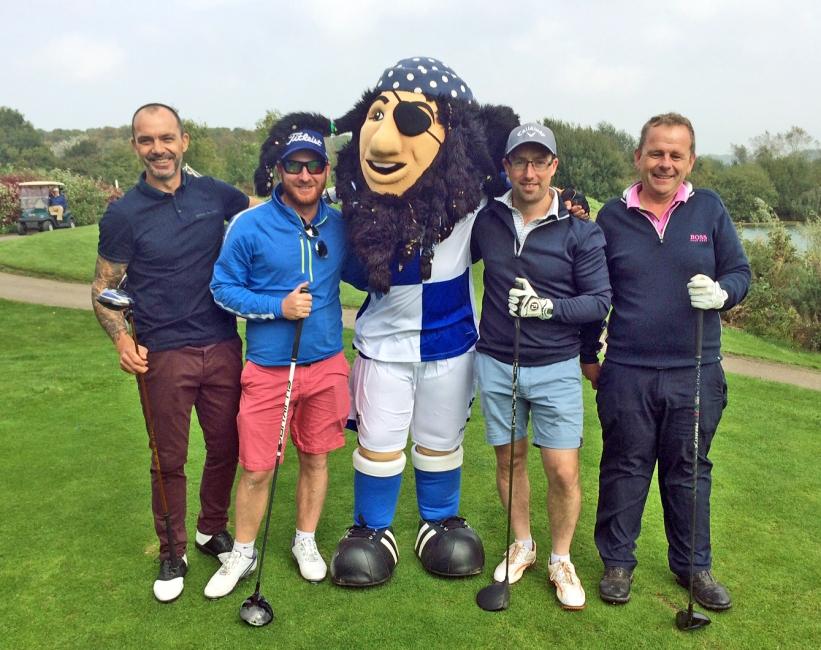 The Team Winners, SM Gauge, featuring David Hillier (far left)