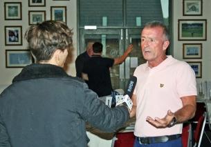 VJ being interviewed - full