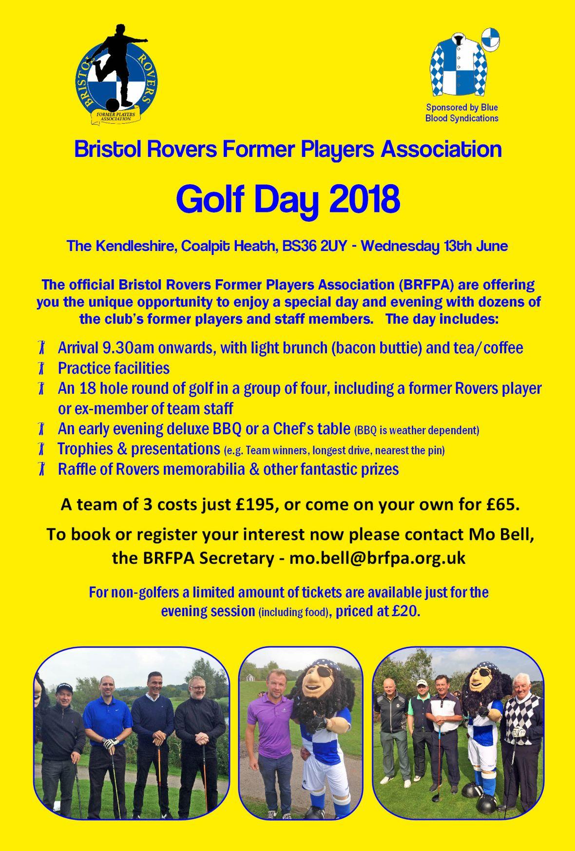 BRFPA Golf Day 2018 - Advert