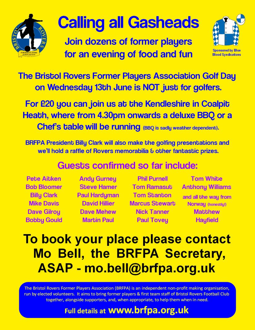 BRFPA Golf Day 2018 - Evening Advert