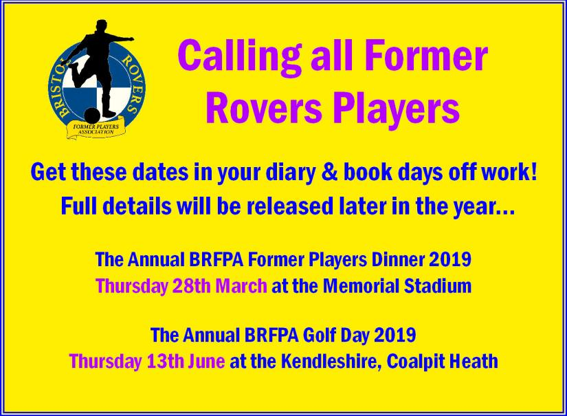 Former Players - Dates for Your Gas Diary - 2019