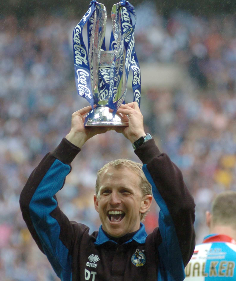Paul Trollope the manager celebrating at Wembley in 2007. Photo credit Jeff Davis