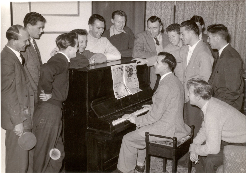 Josser at the piano - strange choice of sheet music! - No photo credit