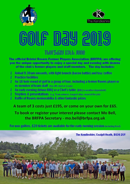 BRFPA Golf Day - 2019 - Advert