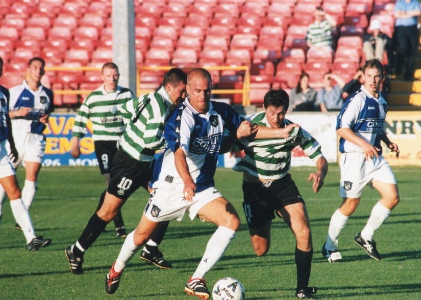 Andy Thomson pictured in action against Shamrock Rovers