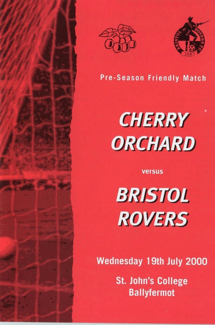 Programme cover for game against Cherry Orchard