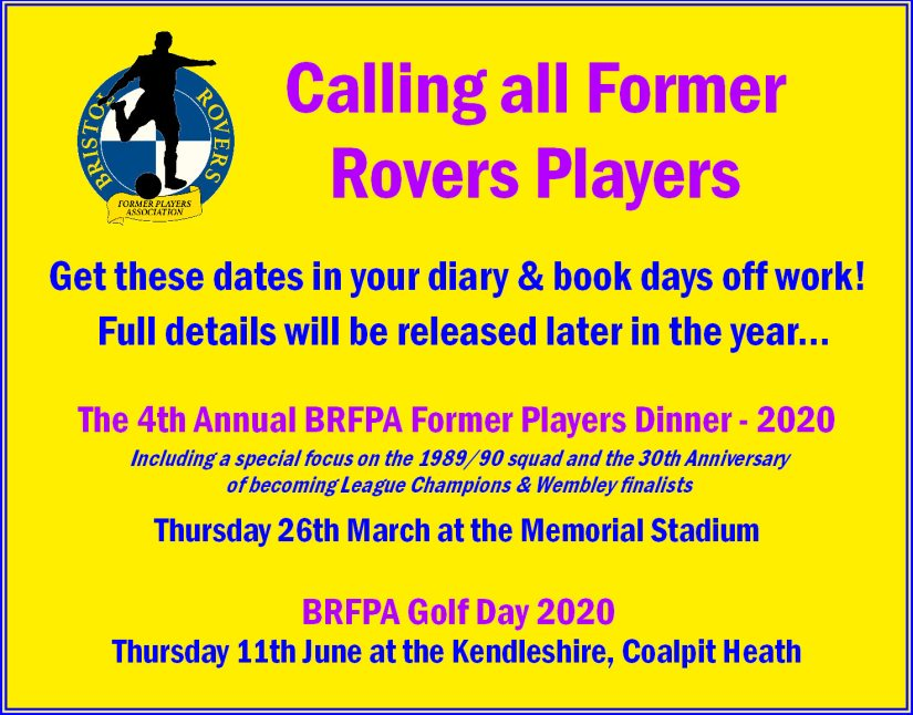 Former Players - Dates for Your Gas Diary -2020