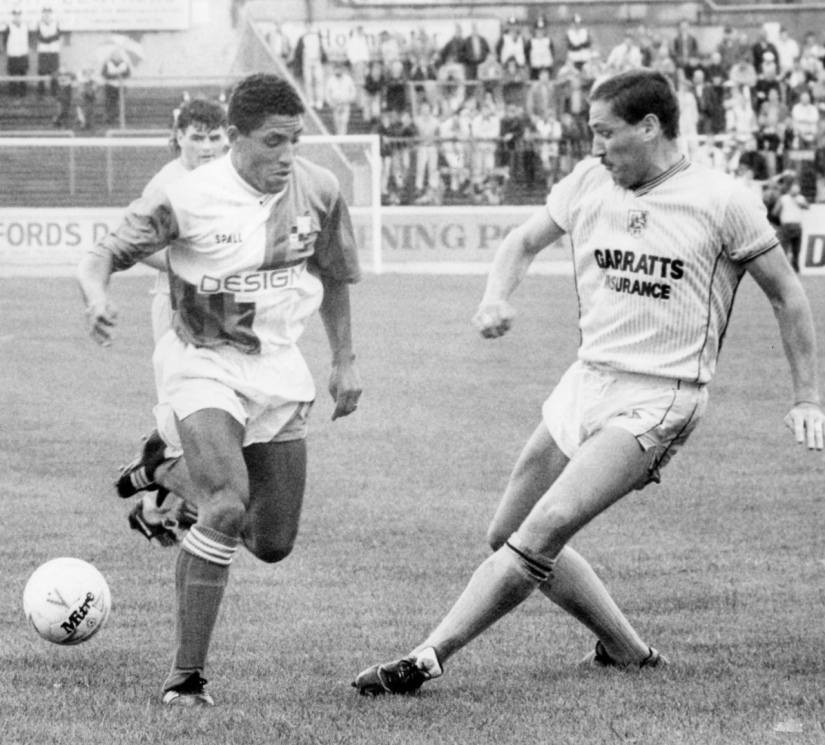 Tony Sealy pictured on his debut against Preston North End