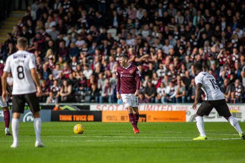Micheal Smith has returned to the Hearts side after injury - Photo courtesy of James Christie Heart of Midlothian FC