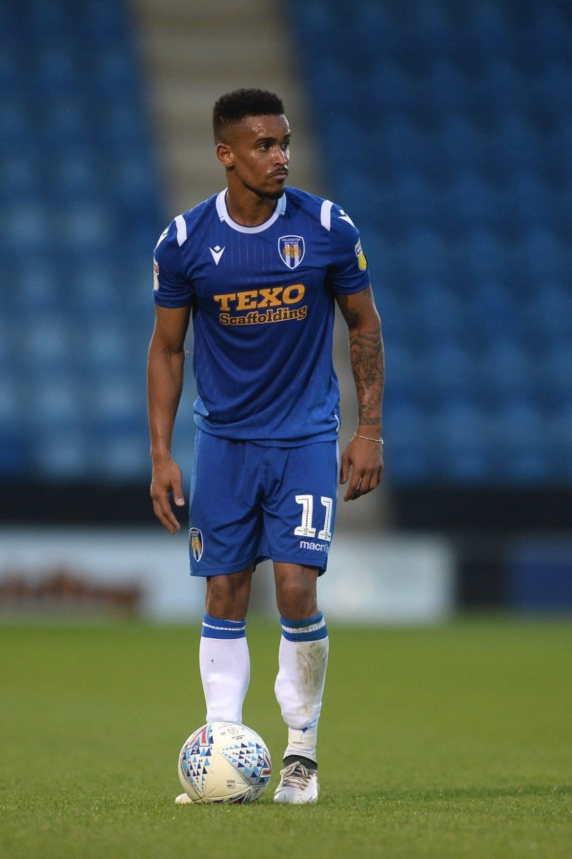 Paris Cowan-Hall who scored one of the penalties that enabled Colchester United to beat Spurs - Photo courtesy of Matt Hudson, Colchester United FC