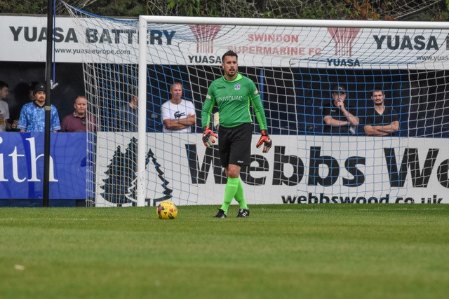 Rhys Evans, now Goalkeeping Coach at Swindon Supermarine. Photo courtesy of Steve Brennan, motionsportphotography