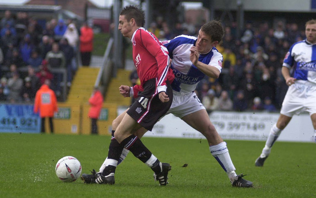 Craig Hinton playing against his former club - Photo Credit Neil Brookman