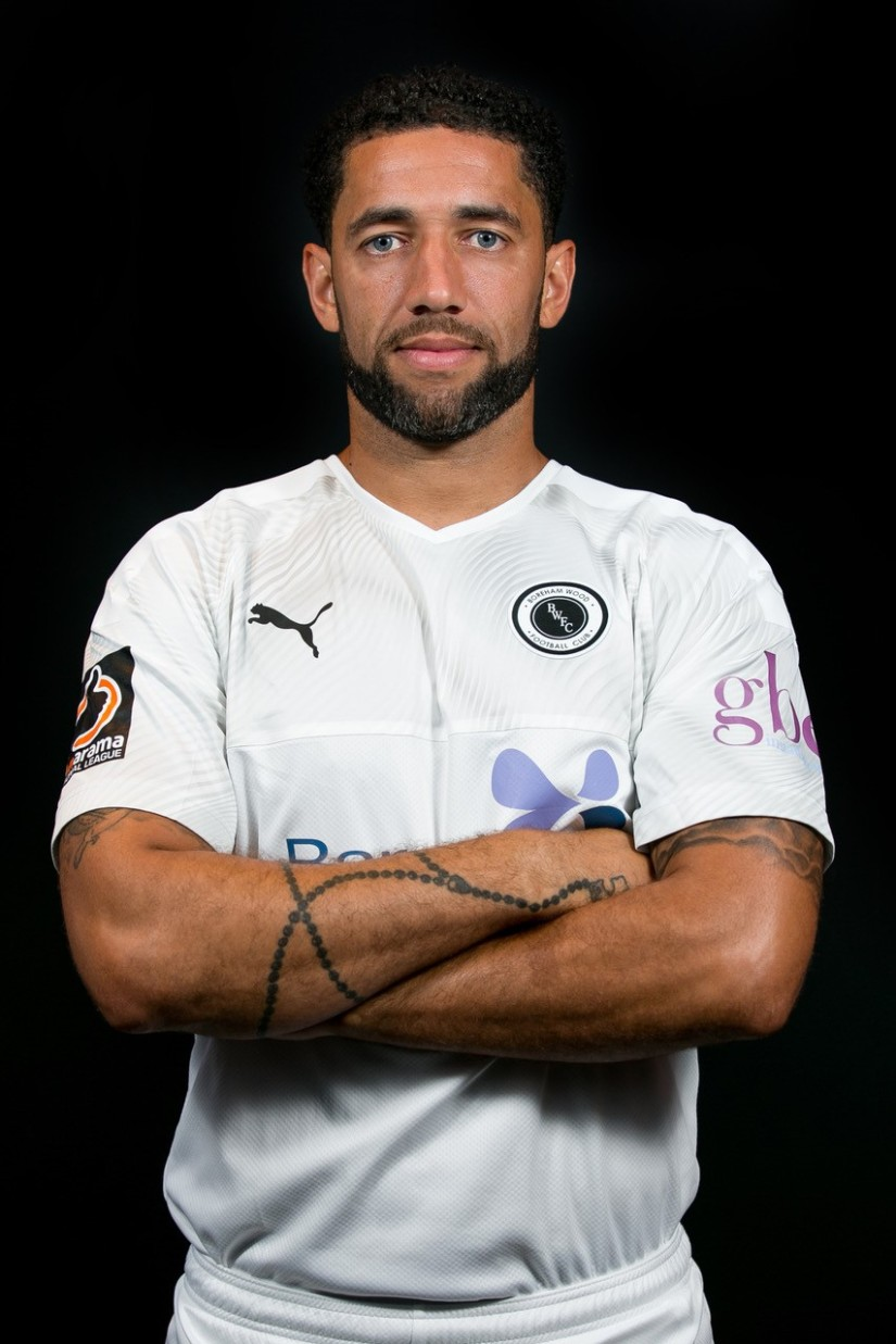 Danny Woodards, now playing for Boreham Wood. Photo courtesy of Charlie Hunter, Boreham Wood FC