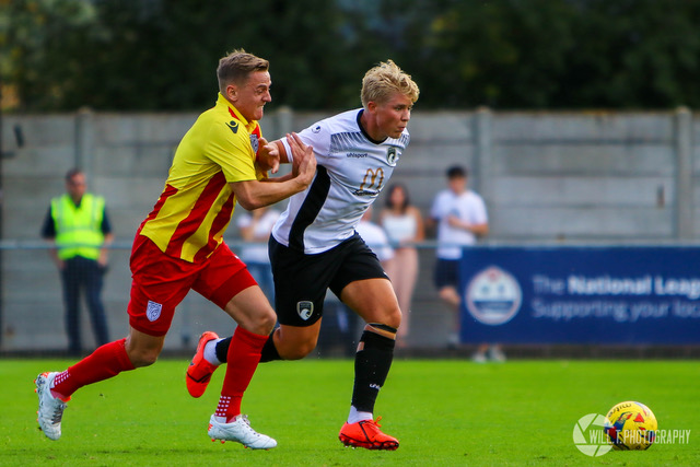 Eliot Richards scored after just seven minutes for Merthyr Town last weekend. Photo courtesy of Mackenzie, Merthyr Town FC