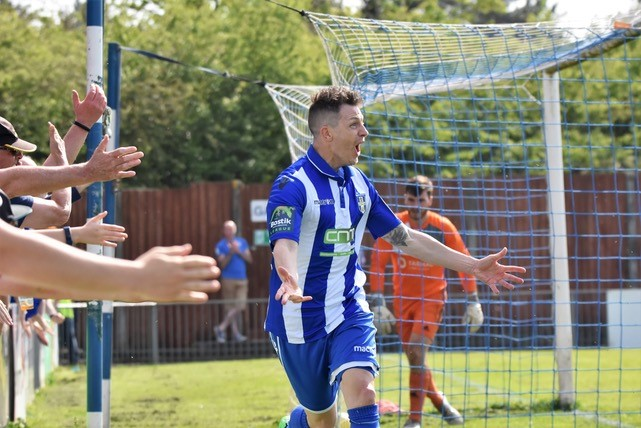Jamie Cureton - the records keep coming! Photo courtesy of Nathan Cracknell, Bishop's Stortford FC Official Photographer