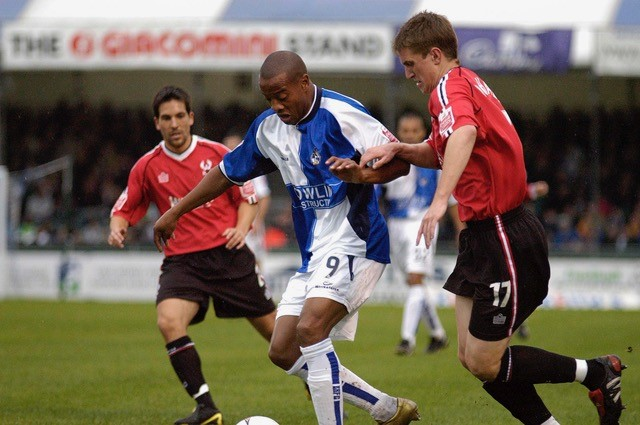 Junior Agogo pictured during the Kidderminster match - Photo Credit Neil Brookman