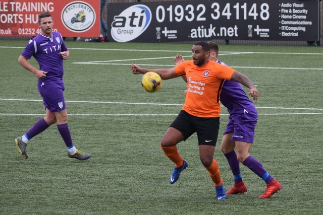 Rene Howe - scored a consolation goal for Walton casuals last weekend - Photo courtesy of Steve Daddy, Walton Casuals FC