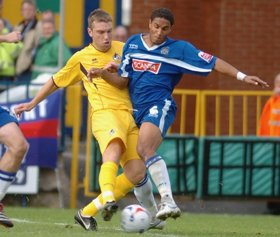 Rickie Lambert pictured on his debut. 3rd sept. Photo Credit Jeff Davis