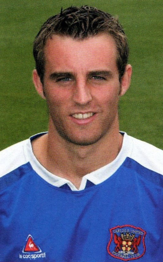 Danny Livesey who scored an own goal for Rovers when playing for Carlisle United on 1st October 2005 - No photo credit