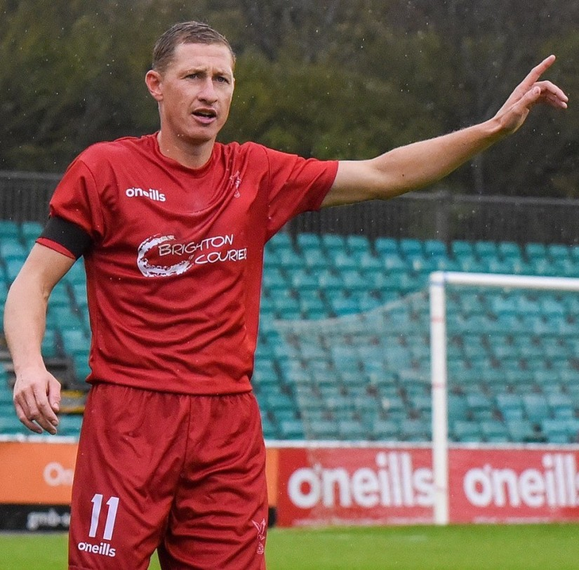 Dave Martin put in a Man of the Match performance for Whitehawk last Saturday. Photo courtesy of Andy Schofield