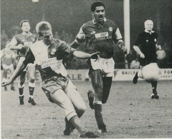 David mehew in action against Walsall