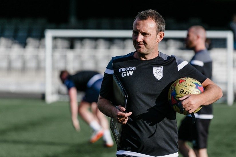 Gavin Williams - Merthyr Town manager and some time substitute! Photo courtesy of Mackenzie, Merthyr Town FC