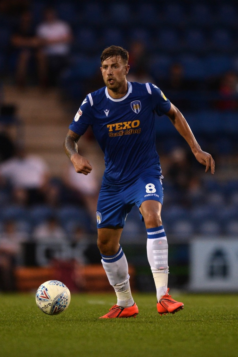 Harry Pell, who returned to the Colchester United squad last weekend. Photo courtesy of Colchester United FC