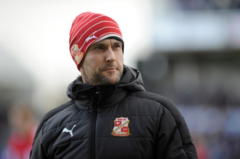 Luke Williams was Swindon's boss when they played at The Memorial Stadium in January 2017 - Photo Credit Neil Brookman