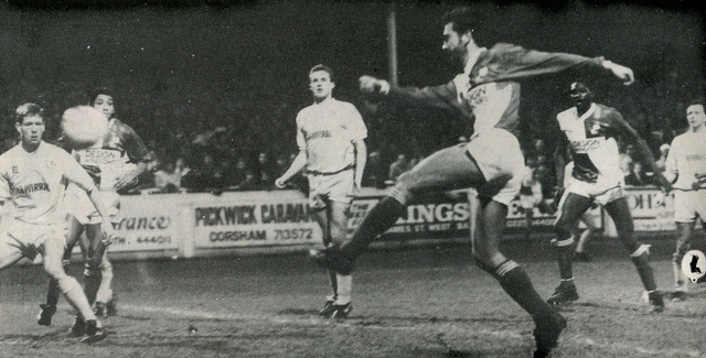 Paul Nixon goes for goal against Tranmere Rovers