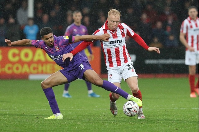 Ryan Broom who has been in excellent form for Cheltenham Town this season. Photo courtesy of CTFC website