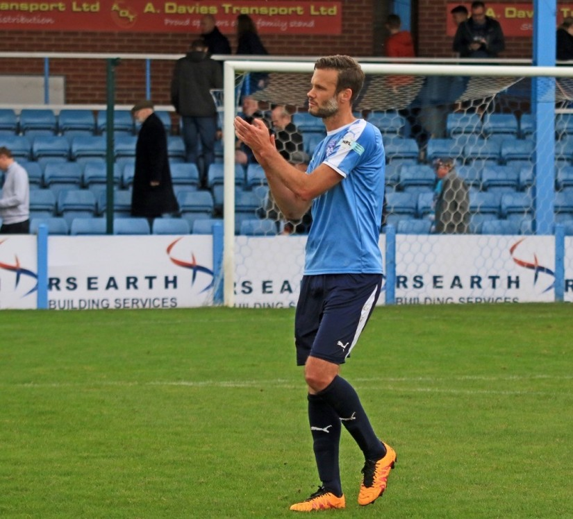 Andy Monkhouse, who returned to the Ossett United squad last Saturday. Photo courtesy of Neil Spofforth, Ossett United FC