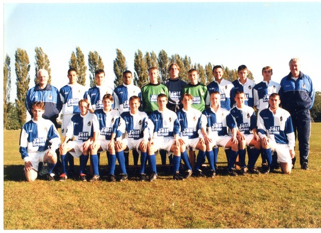 Another Youth Team photo from 1997-98, with coaches John Trollope and Roy Dolling. How many of these players can you name - Photo Credit Alan Marshall