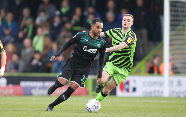 Byron Moore pictured in action for Plymouth Argyle. Photo courtesy of Dave Rowntree, official photographer Plymouth Argyle FC