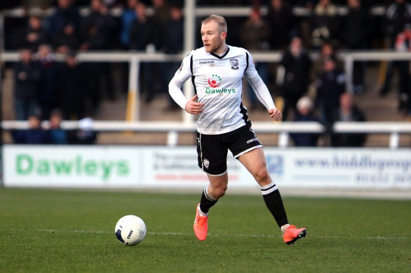 Danny Greenslade, now fully recovered after injury, and once again playing regularly for Hereford. Photo courtesy of Jamie Griffiths, Hereford United FC