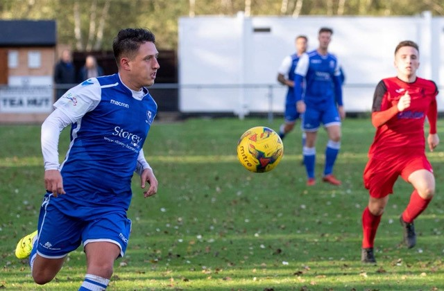 Tom Hitchcock - scored for Bedford Town last Saturday but ended up on the losing side. Photo courtesy of Bedford Town FC
