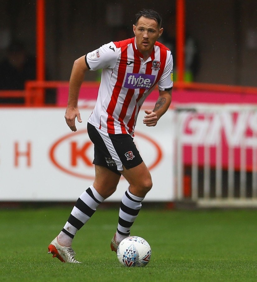 Tom Parkes is looking to gain promotion with Exeter City this season. Photo Courtesy Ben Stock ECFC