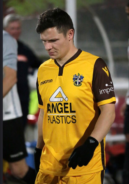 Wayne brown, currently playing for Walton casuals, pictured in the colours of his parent club Sutton United. Photo courtesy of Sutton United twitter