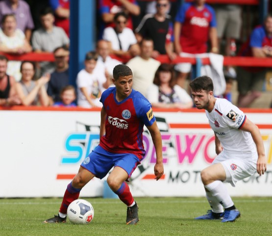 Alefe Santos who came off the bench for Aldershot Town last Saturday. Photo courtesy of Ian Morseman, Aldershot Town