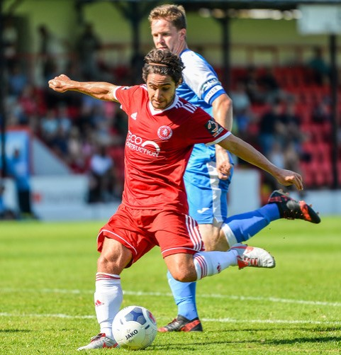 Bradley Goldberg - he and his Welling United side have dropped into the relegation zone. Photo courtesy of Dave Budden