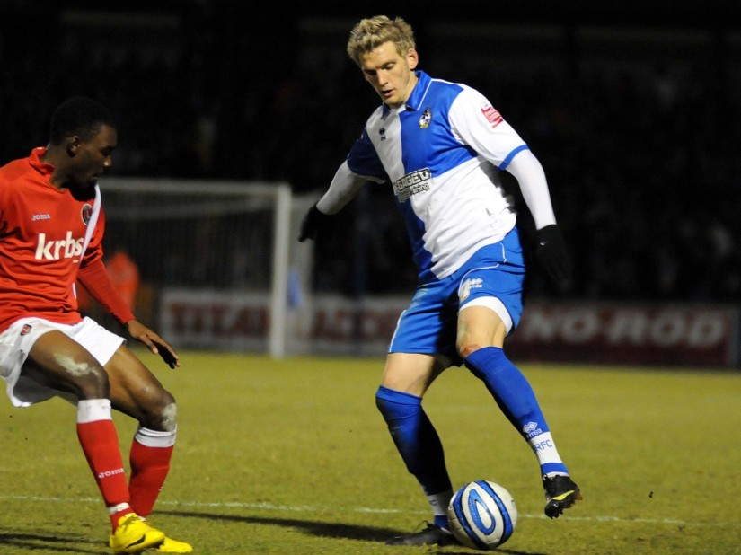 Daniel Jones, pictured on his debut against Charlton Athletic. Photo courtesy of Neil Brookman
