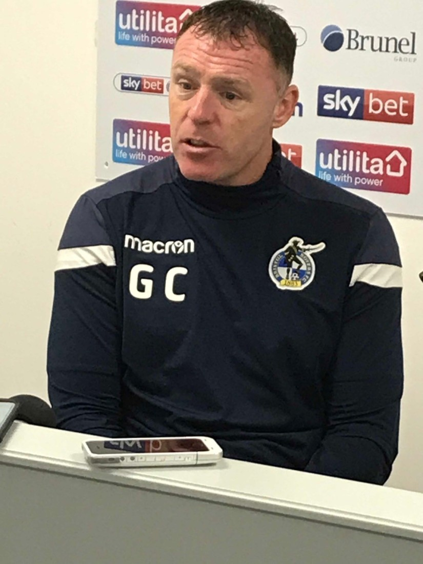 Graham Coughlan, whose Mansfield Town side were beaten by one of his former clubs, Plymouth Argyle, last Saturday. Photo courtesy of Keith Brookman