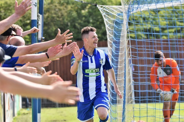 Jamie Cureton, who can't stop scoring - three more for Bishop's Stortford over the festive period. Photo courtesy of Nathan Cracknell