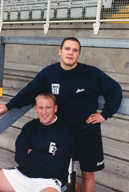 Jamie Shore and David Pritchard. Careers blighted by injury. Photo courtesy of Alan Marshall