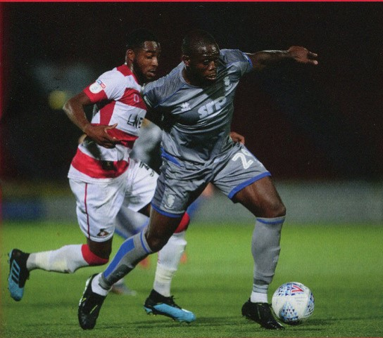 John Akinde, a regular in the Lincoln City squad. Photo courtesy of Tom Bullivant, Lincoln City FC