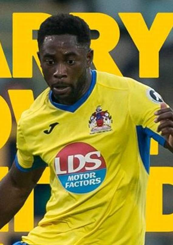 Kayne McLaggon who scored twice for Barry Town United last Saturday. NO CREDIT FOR THIS ONE