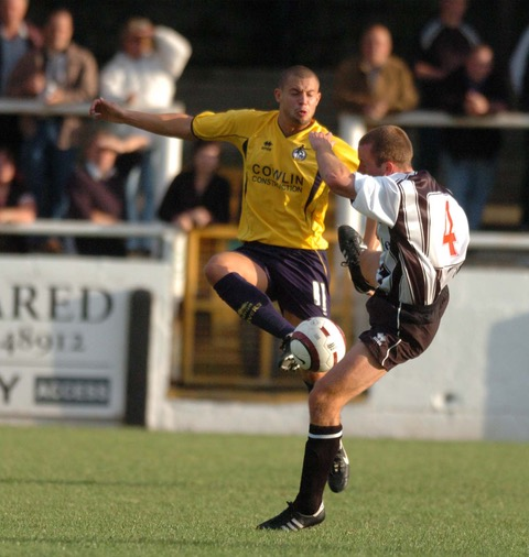 Marc Richards, who recently joined Yeovil Town, pictured here in action for Rovers in a pre-season friendly against bath City in 2005. Photo courtesy of Neil Brookman