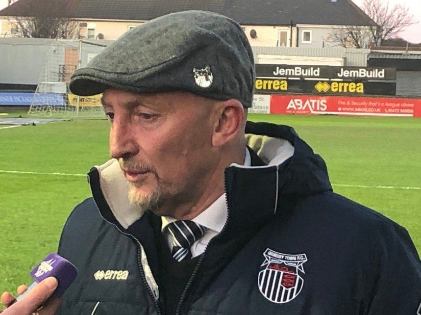 New Grimsby Town manager Ian Holloway. No credit