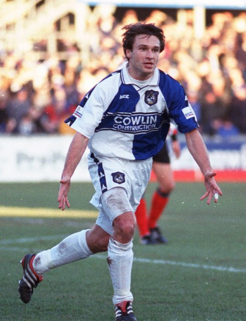 Vitalijs Astafjevs joined Rovers in January 2000. Photo courtesy of Alan Marshall
